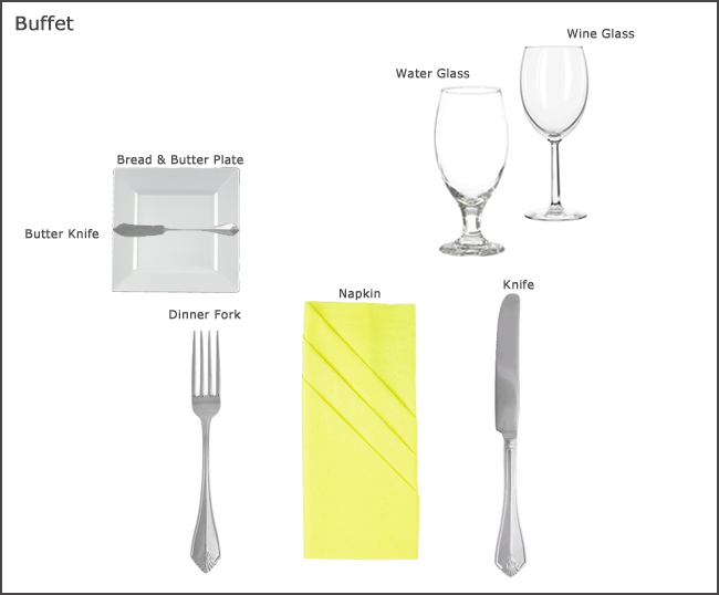 Table Setting Guides. Banquets range in setups from formal sit downs to more casual buffet service. Sit down meals will require more service pieces than ...  sc 1 st  Williams Party Rentals & Table Setting Guides at our Party Rental store in San Jose CA ...