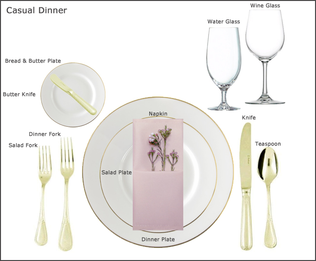 table setting guides at our party rental store in san jose. Black Bedroom Furniture Sets. Home Design Ideas